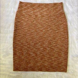 Orange LuLaRoe Cassie Pencil Skirt
